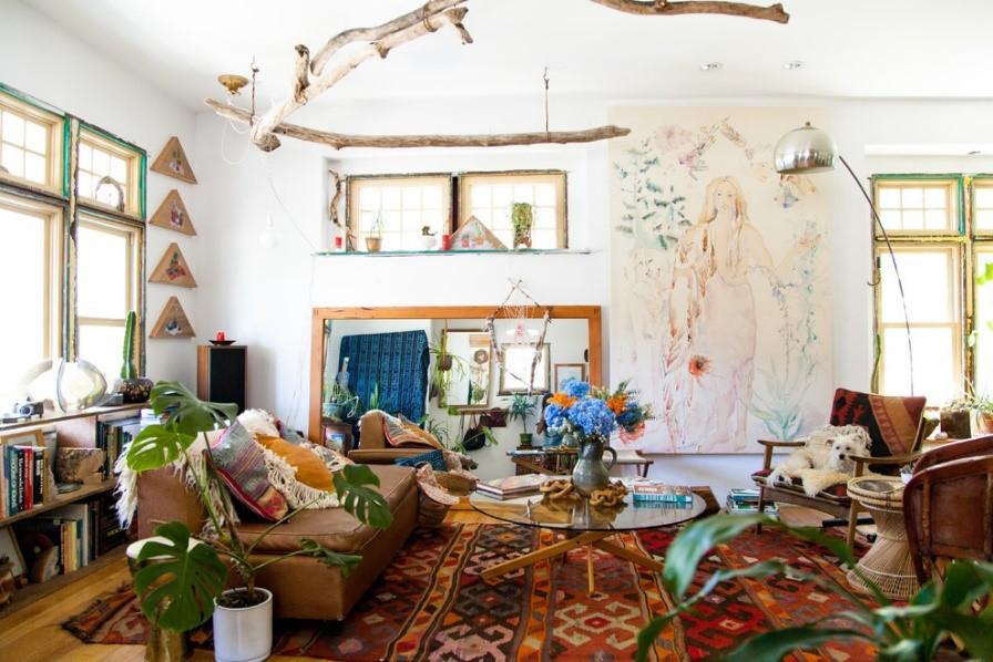 gaya desain rumah bohemian