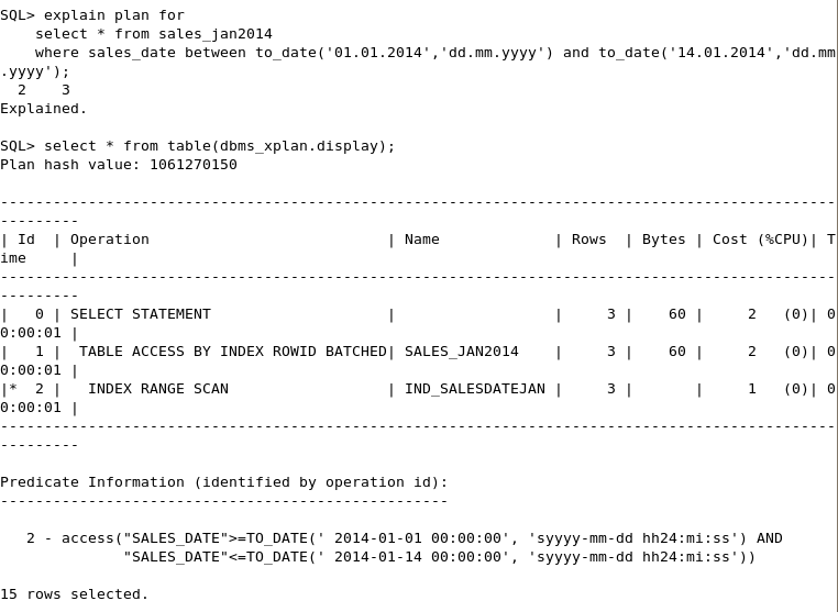 How To Select Partition Table In Oracle Partitioned Tables