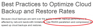 use RMAN parallelism and compression??
