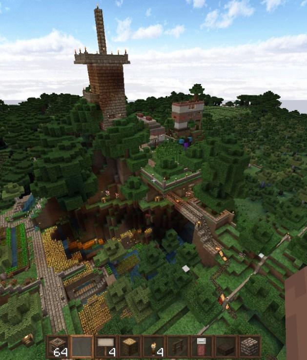 Mundo de Minecraft en modo creativo