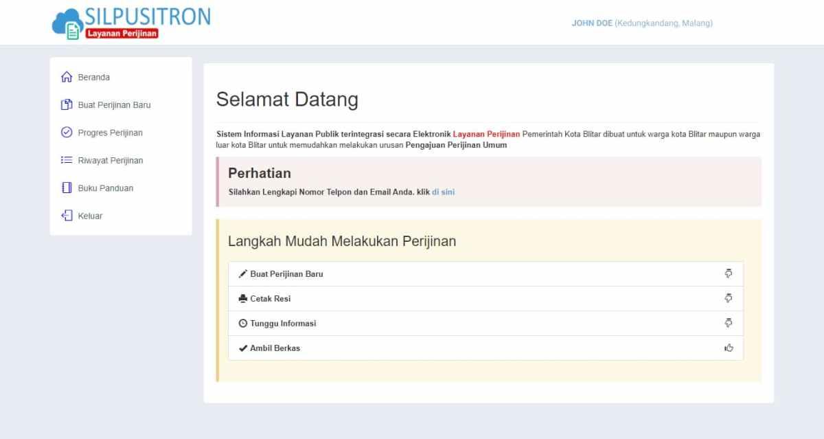 Perizinan Online
