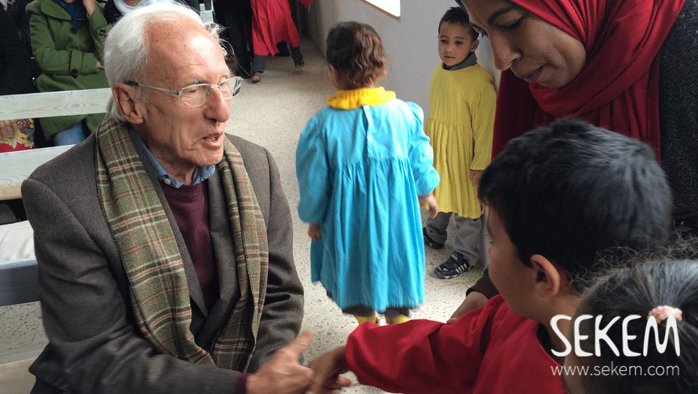 Aside from the Heliopolis University, Dr. Bruno Sandkühler also visited the SEKEM School.