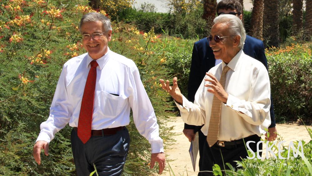 Deutscher Botschafter und Dr. Ibrahim Abouleish in SEKEM