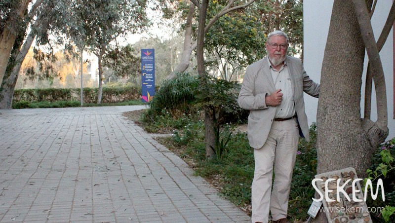 Dr. Michael Succow gave a lecture at the Heliopolis University for Sustainable Development.