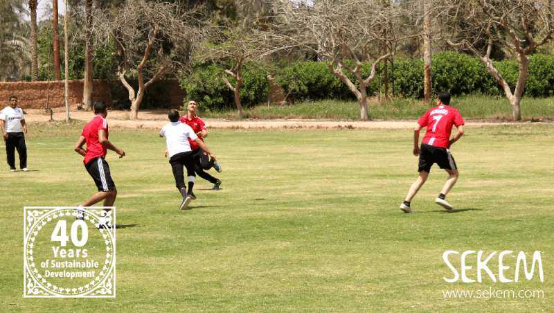 The Teams Quality & Administration of NatureTex fighting to win the annual soccer tournament