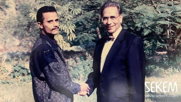صورة قديمة لحمدي مع إبراهيم أبو العيش