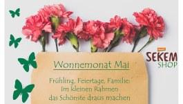 Wonnemonat Mai: Angebote zum Muttertag im SEKEM Shop