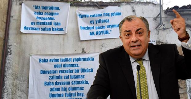 Tuğrul Türkeş Baba Ocağında Protesto Edildi