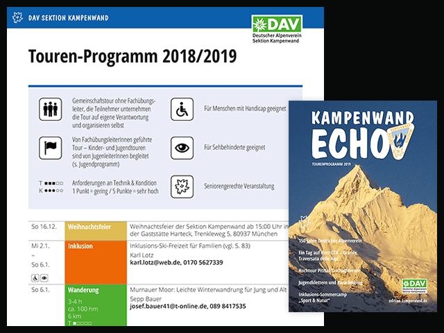 Tourenprogramm 2018/2019