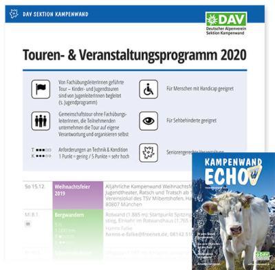 Touren- und Veranstaltungsprogramm 2020