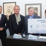 Spendensumme Bildverlosung DolomitenBank Lienz