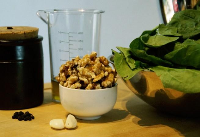 Spinat Walnuss Pesto - Die Zutaten