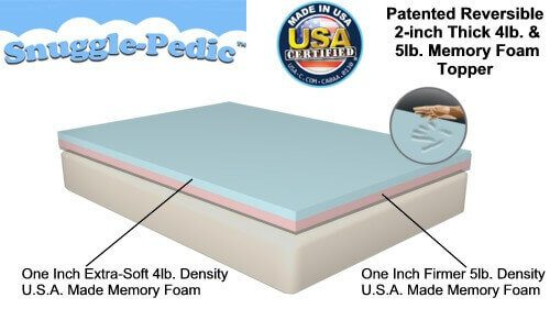 Snuggle Pedic Foam Mattress Pads Selectabed