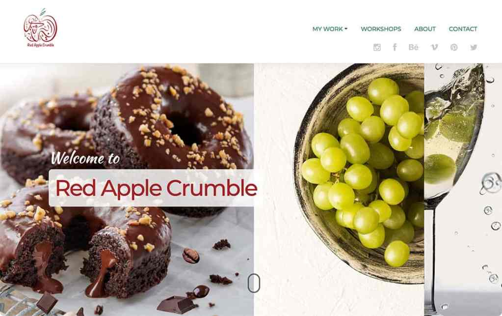 Screen shot form Red Apple Crumble Website