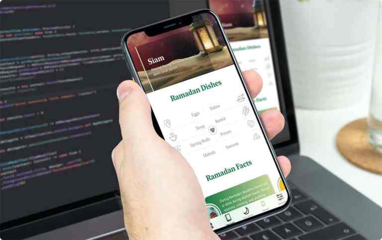 Ramadan Kareem Mobile App for iOS Created By Select Creatives
