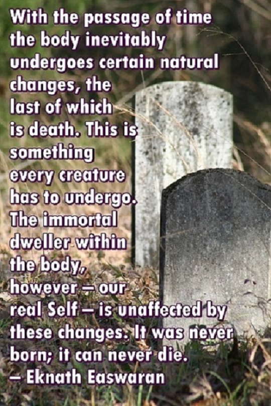 GRAVE STONES WITH EASWARAN QUOTE ABOUT DEATH 540