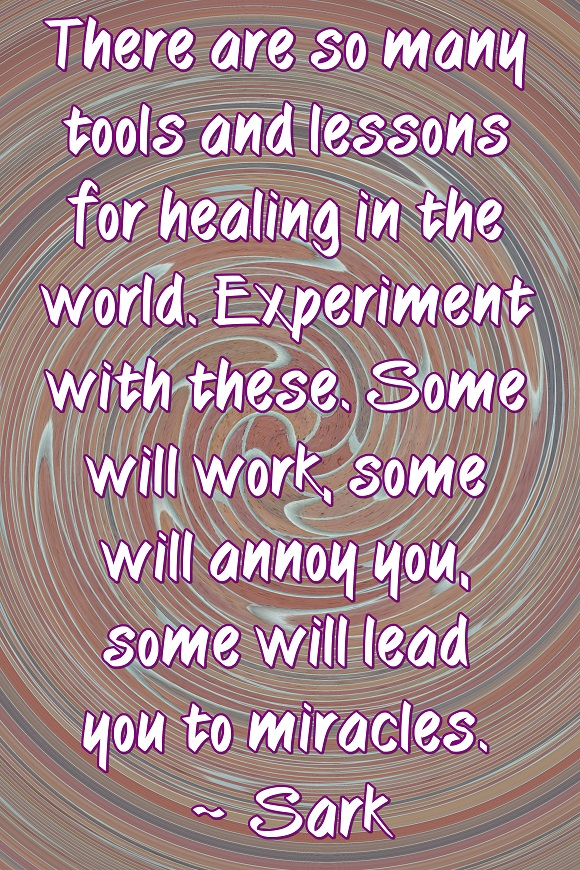 There are many, many healing modalities. Experiment with them and discover the blessings which await you.
