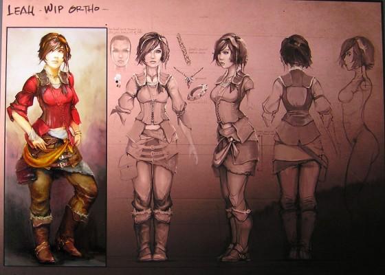 Arte conceitual - Leah - Diablo III
