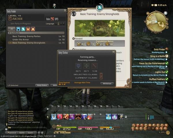 Final Fantasy XIV A Realm Reborn Duty Finder