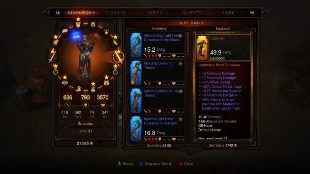 Diablo III - X360 Screenshot - Menu
