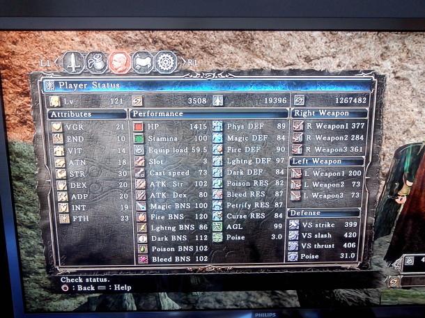 Dark Souls II - Dados do Personagem