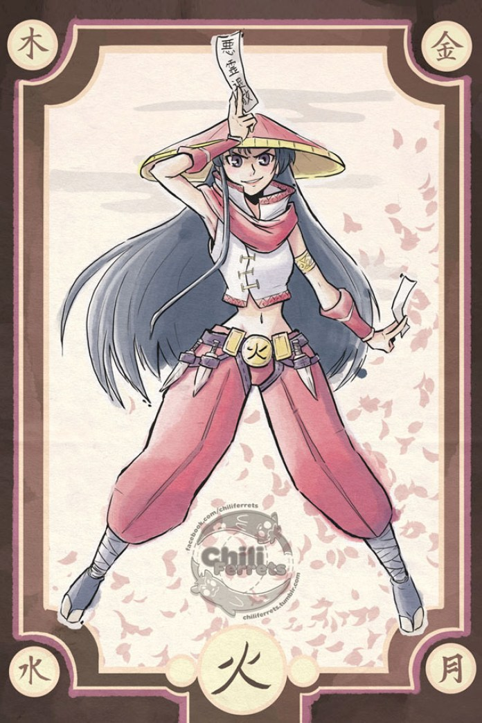 Sailor Moon - Demon Hunter Mars - Samurai Style