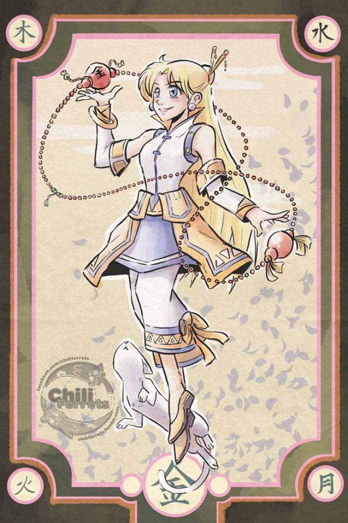 Sailor Moon - Monk Venus - Samurai Style