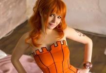 Nami Halloween Cosplay Feminino - One Piece - Topo