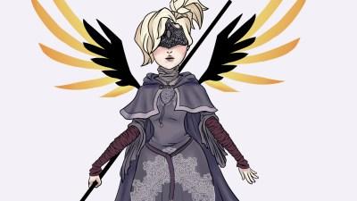 Veja uma fanart incrível da Mercy Guardiã do Fogo, de Overwatch e Dark Souls III
