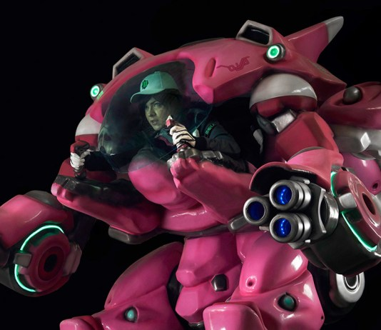 Cosplay da D.VA com o Mecha - Overwatch - Foto Topo