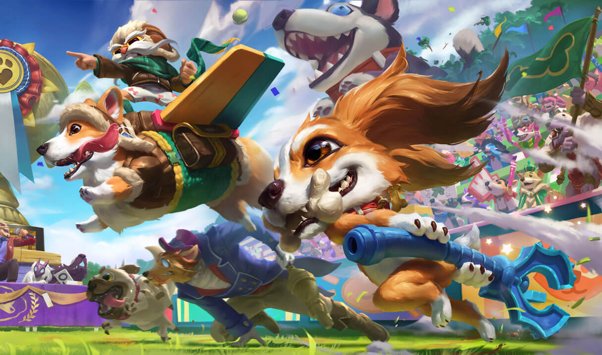 Fuzz Fizz - Splash Art de nova skin no League of Legends