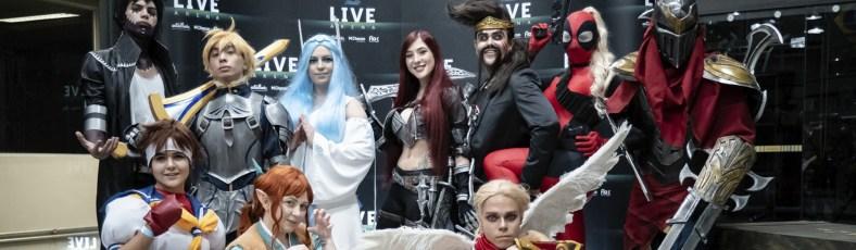 Cosplayers na Live Arena - Foto