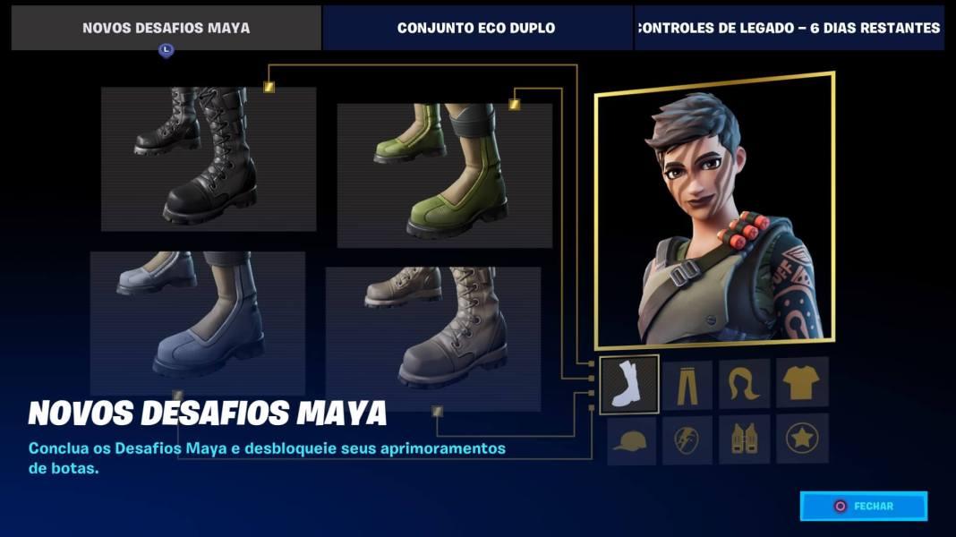 Fortnite - Novos Desafios da Maya