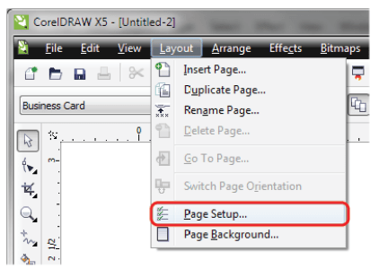 Image result for page setup dialog box in coreldraw