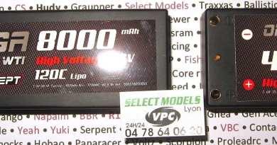 Lipos rcconcept 7.6V 120c
