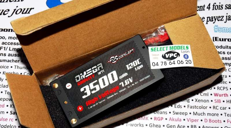 Promo shorty rc concept 120c 7.6v 3500