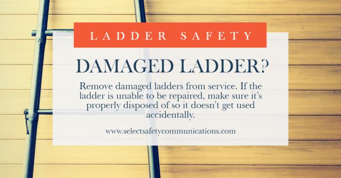 Damaged Ladder Infographic