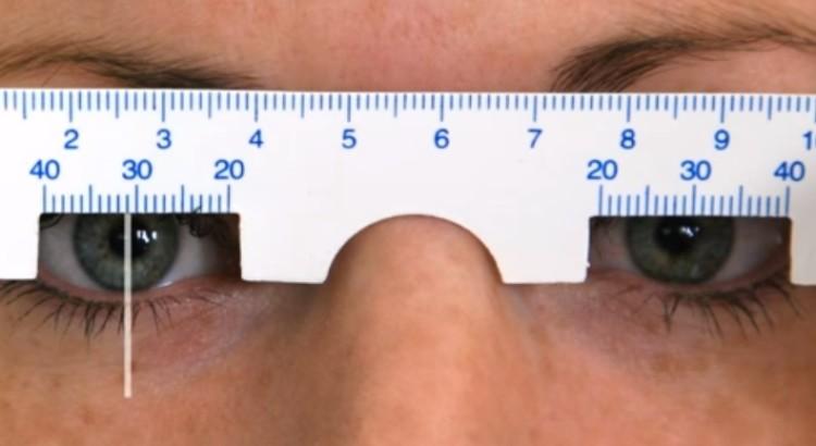 מדידת מרחק אישונים PD