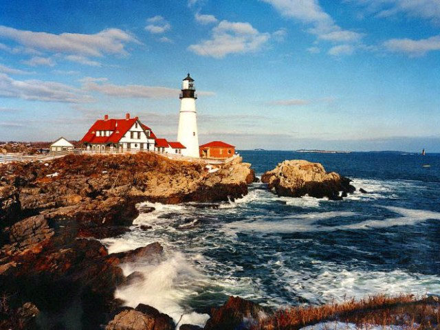 The Americas Luxury Yacht Charter Maine Lighthouse