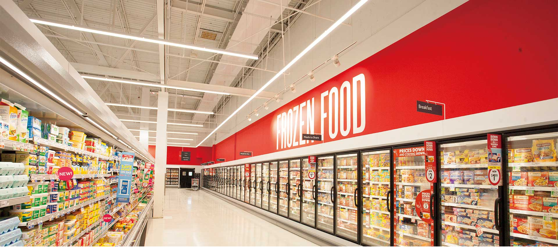 frozen food power wall