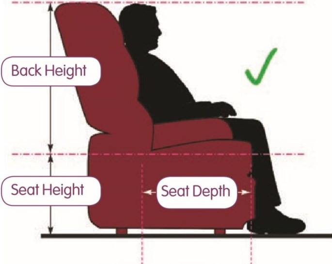Chair Measuring Guide Side View