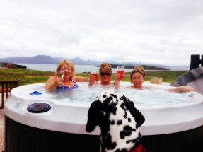 Hot Tub chillout at Stac Polly Cottage
