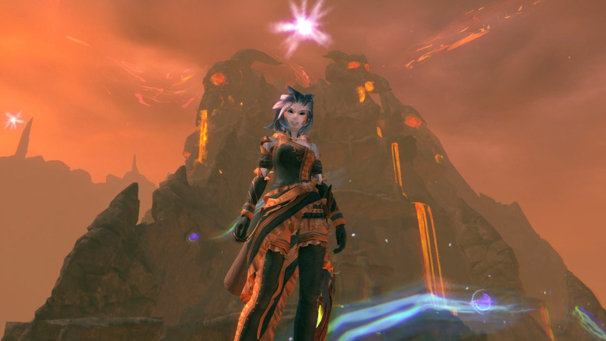 Twyrene exploring Ember Bay in Guild Wars 2