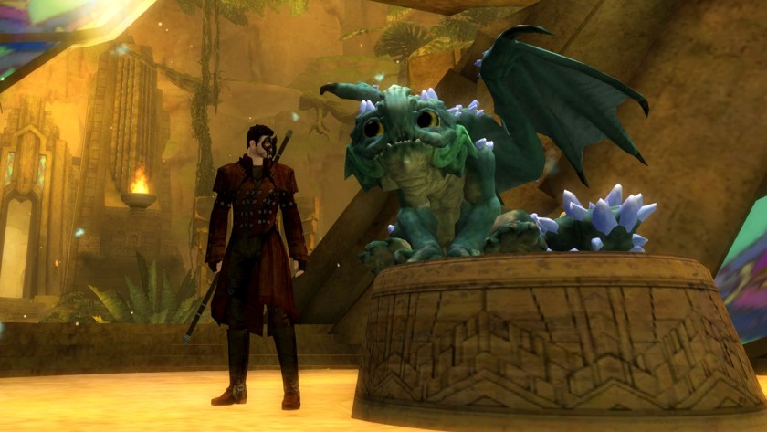 The baby dragon Aurene in Guild Wars 2
