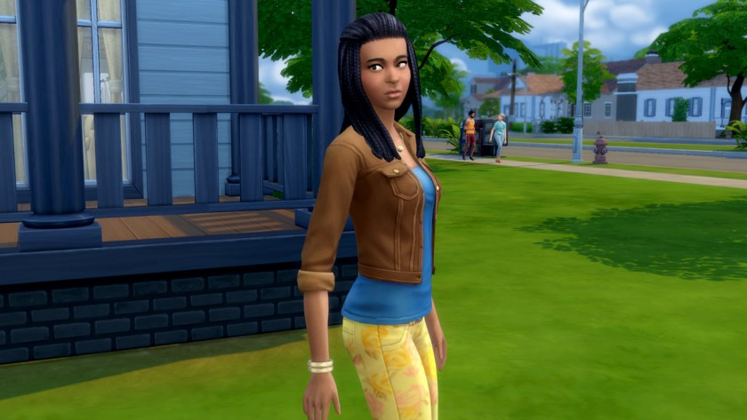 Jasmine Holiday, challenge event co-ordinator in The Sims 4