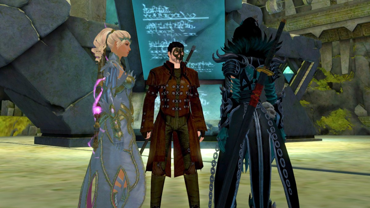 Meeting Kasmeer and Majory to observe Taimi's Pet Project in Guild Wars 2's Flashpoint Living World Season 3 episode