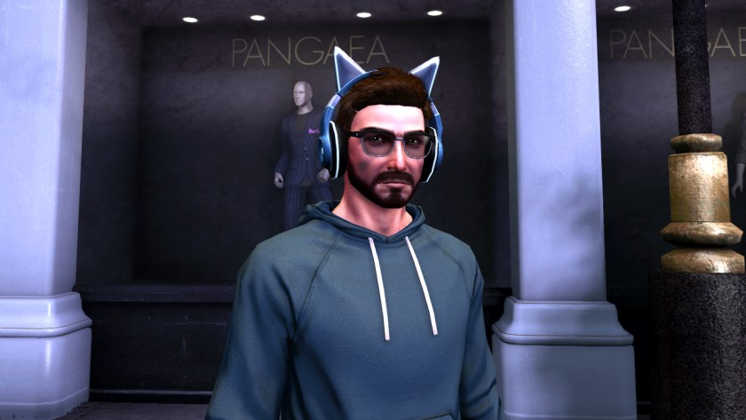 Exclusive blue cat earphones in The Secret World