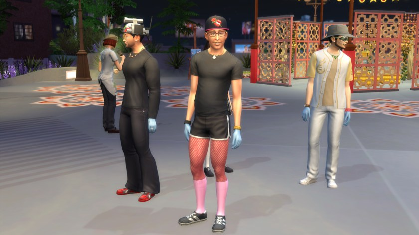 Townies wearing random clothing in The Sims 4