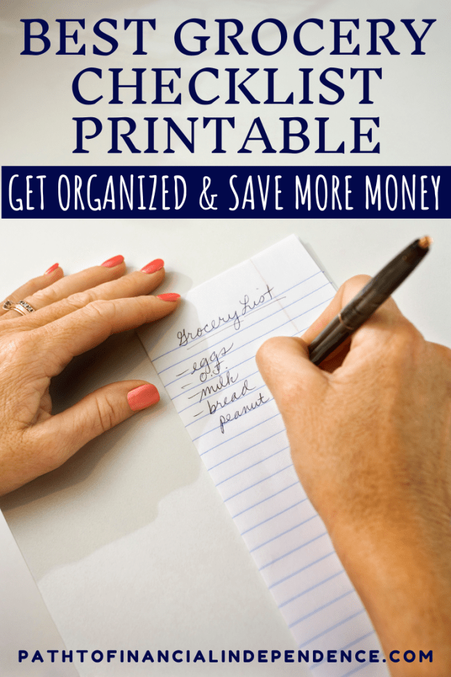 Best grocery checklist printable. Get organized and save more money