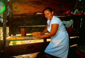 Photo of Julia in her fritanga